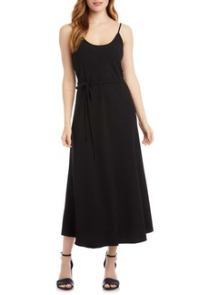 Karen Kane Tie Waist Crepe Midi Dress