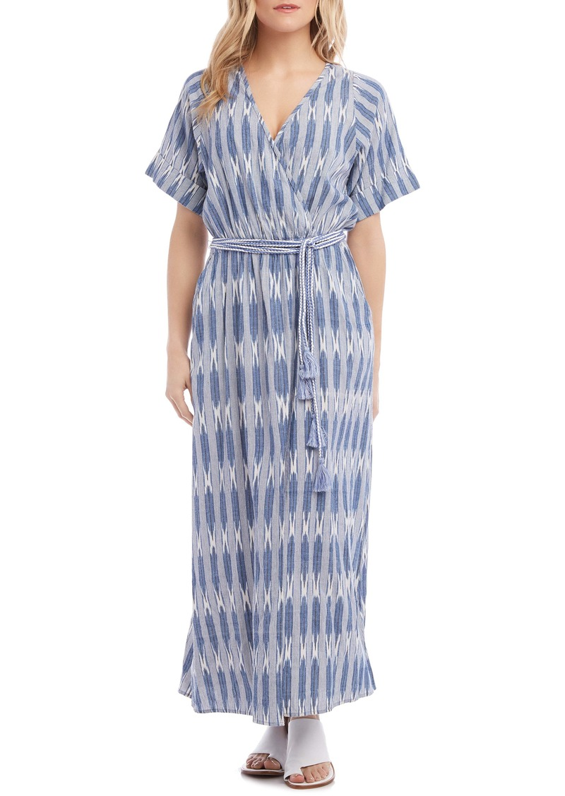 Karen Kane Tie Waist Maxi Dress