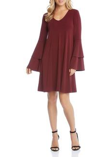 Karen Kane Tiered Bell Sleeve Dress