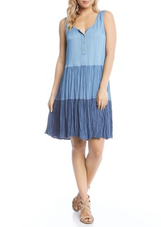 Karen Kane Tiered Chambray Dress