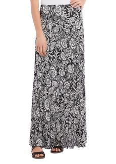Karen Kane Tiered Floral-Print Maxi Skirt