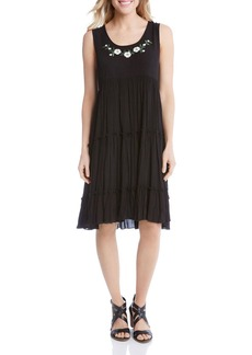 Karen Kane Tiered Sleeveless Dress