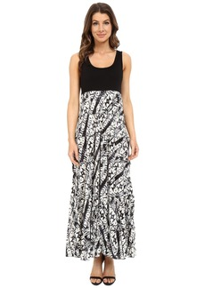 Karen Kane Tribal Print Tiered Maxi Dress
