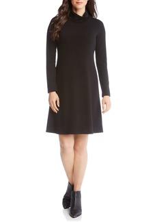 Karen Kane Turtleneck A-Line Dress (Regular & Petite)