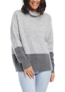 Karen Kane Turtleneck Colorblock Sweater