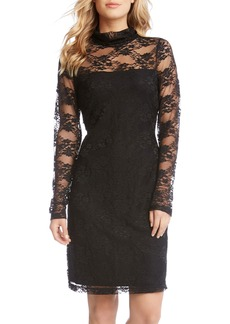 Karen Kane Turtleneck Lace Sheath Dress