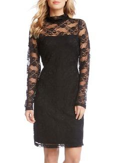 Karen Kane Turtleneck Lace Sheath Dress