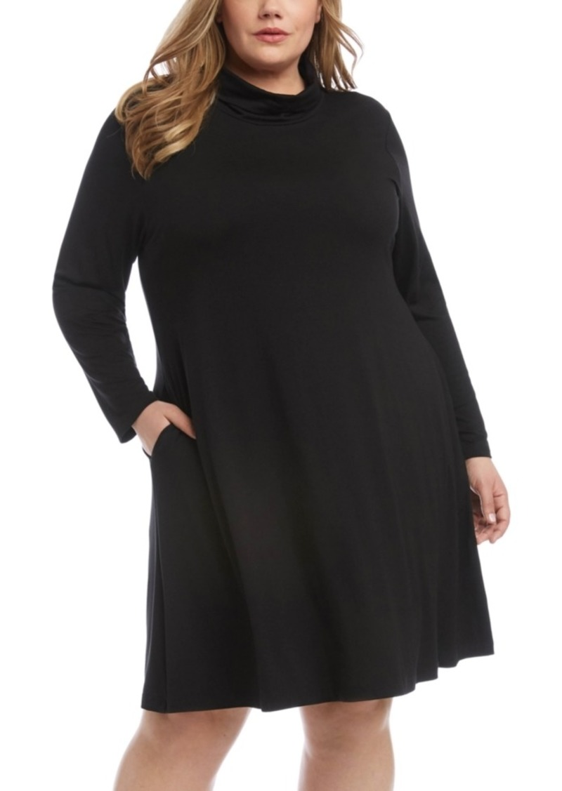 Karen Kane Turtleneck Skater Dress