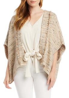 Karen Kane Tweed Wrap Jacket