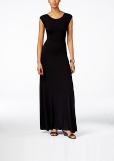 Karen Kane V-Back Cap-Sleeve Maxi Dress