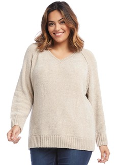 Karen Kane V-Neck Chenille Sweater