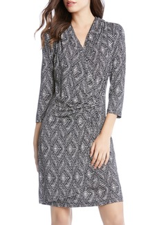 Karen Kane V-Neck Faux-Wrap Dress