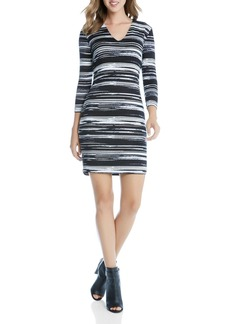 Karen Kane V-Neck Stripe Sheath Dress