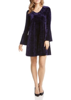 Karen Kane Velvet Bell-Sleeve Dress