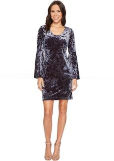 Karen Kane Velvet Bell Sleeve Dress
