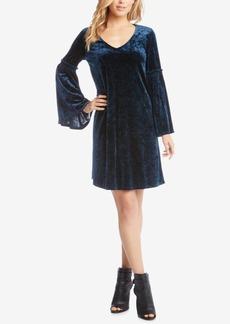 Karen Kane Velvet Bell-Sleeve Dress