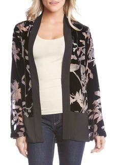 Karen Kane Velvet Burnout Contrast Jacket