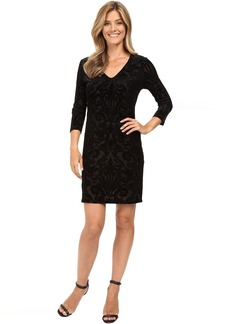 Karen Kane Velvet Burnout Sheath Dress