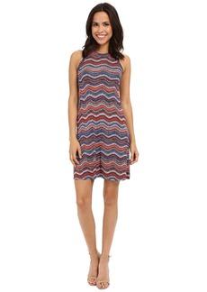 Karen Kane Wavy Print Halter Dress