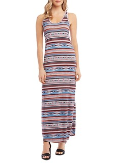 Karen Kane Western-Inspired Geo & Stripe Print Maxi Dress