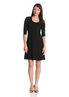Karen Kane Women's 3/4 Sleeve A-Line Dress