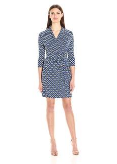 Karen Kane Women's 3/4 Sleeve Cascade Wrap Dress  M