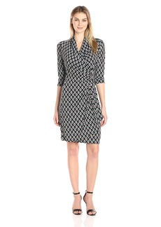 Karen Kane Women's 3/4 Sleeve Cascade Wrap Dress  XS