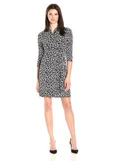 Karen Kane Women's 3/4 Sleeve Cascape Wrap Dress  L