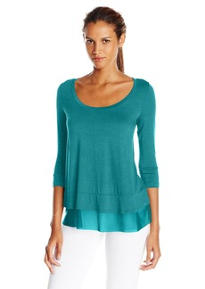 Karen Kane Women's 3/4 Sleeve Peplum Top