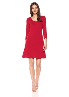 Karen Kane Women's 3/4 Sleeve Sweater Dress  L