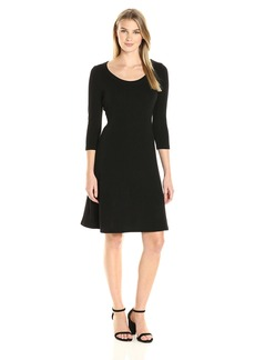 Karen Kane Women's 3/4 Sleeve Sweater Dress  XL