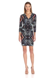 Karen Kane Women's Abstract Kaleidoscope Sheath Dress