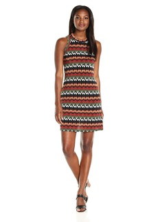 Karen Kane Women's Abstract Zig Zag Halter Dress  S