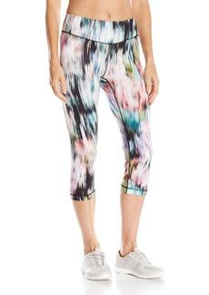 Karen Kane Women's Active Crop Pant Print Floral washout