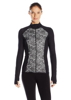 Karen Kane Women's Active Mix Lace Jacket Black