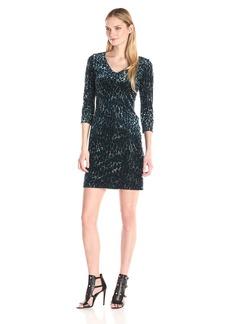 Karen Kane Women's Animal Burnout Sheath Dress