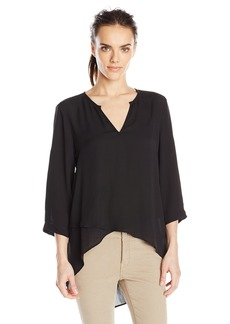 Karen Kane Women's Asymmetrical Hem Wrap Top