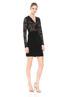 Karen Kane Women's Becca Contrast Lace Dress  L