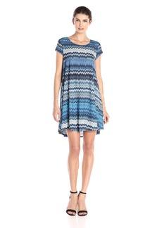 Karen Kane Women's Blue Mesa Maggie Trapeze Dress