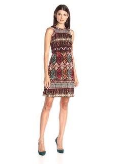 Karen Kane Women's Border Halter Dress