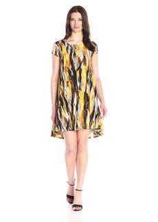 Karen Kane Women's Brushed Yellow Maggie Trapeze Dress