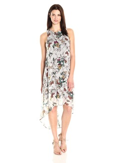 Karen Kane Women's Butterfly Hi-Lo Hem Dress  XL