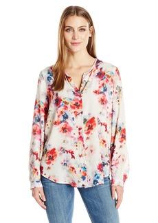 Karen Kane Women's Button-up Shirttail Blouse  L