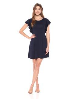 Karen Kane Women's Cascade Sleeve Dress  XL