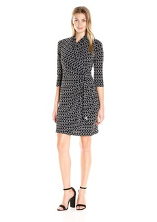 Karen Kane Women's Cascade Wrap Dress  XS