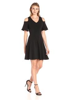Karen Kane Women's Cold Shoulder Travel Dress  M