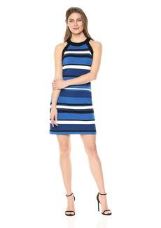 Karen Kane Women's Contrast Modern  Halter Dress Extra Small