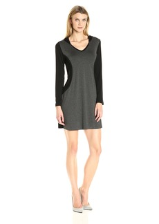 Karen Kane Women's Contrast Panel Hoodie Dress  M