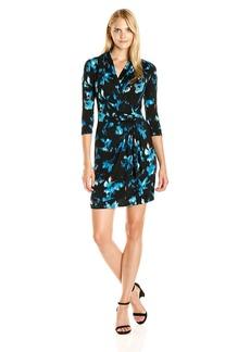 Karen Kane Women's Costa Maya Cascade Wrap Dress  XL