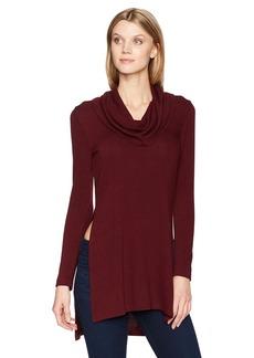 Karen Kane Women's Cowl Neck Side-Slit Sweater  S